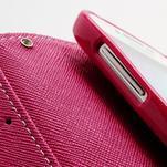 Fancy peněženkové pouzdro na Samsung Galaxy S4 - žluté - 7/7