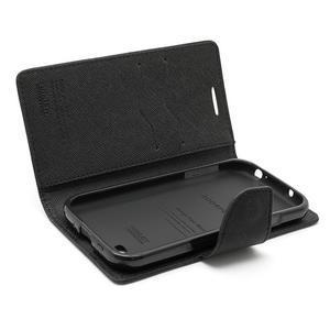 Fancy peněženkové pouzdro na Samsung Galaxy S4 -  černé - 7