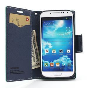 Fancy peněženkové pouzdro na Samsung Galaxy S4 -  azurové - 7