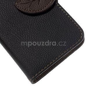 Černé/hnědé peněženkové pouzdro na Samsung Galaxy Core Prime - 7