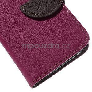 Rose/hnědé peněženkové pouzdro na Samsung Galaxy Core Prime - 7