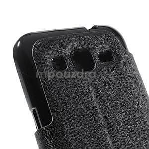 Zapínací peněženkové pouzdro na Samsung Galaxy Core Prime - černé - 7