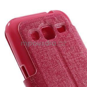 Zapínací peněženkové pouzdro na Samsung Galaxy Core Prime - rose - 7