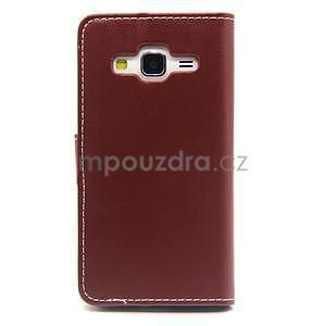 Hnědé pouzdro na Samgung Galaxy Core Prime - 7