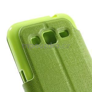 Zapínací peněženkové pouzdro na Samsung Galaxy Core Prime - zelené - 7