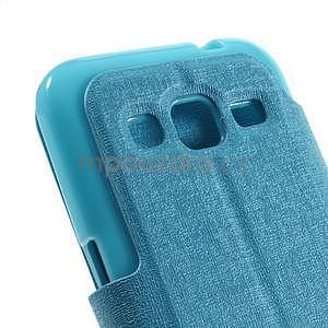 Zapínací peněženkové pouzdro na Samsung Galaxy Core Prime - tyrkysové - 7