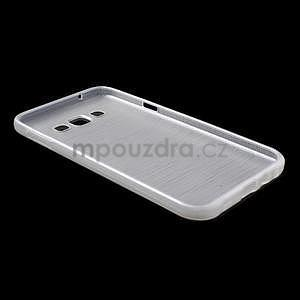 Broušený gelový obal pro Samsung Galaxy E7 - bílý - 7