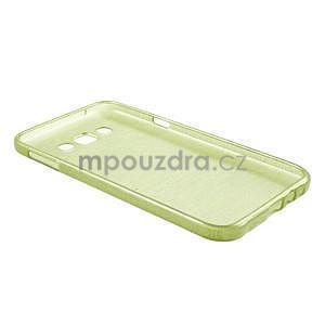 Broušený gelový obal pro Samsung Galaxy E7 - zelený - 7