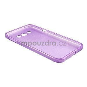 Broušený gelový obal pro Samsung Galaxy E7 - fialový - 7