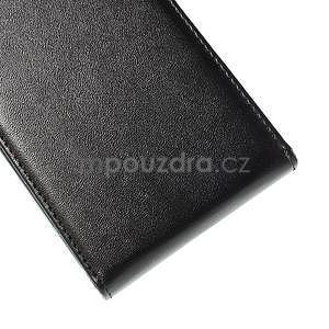 Černé flipové PU kožené pouzdro na Samsung Galaxy E7 - 7