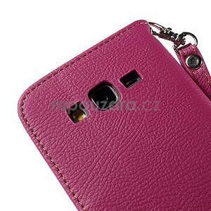 Rose/hnědé zapínací peněženkové pouzdro na Samsung Galaxy Grand Prime - 7