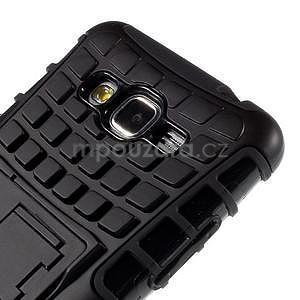 Vysoce odolný kryt se stojánkem na Samsung Galaxy Grand Prime - černý - 7