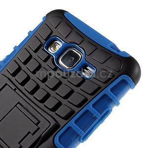 Vysoce odolný kryt se stojánkem na Samsung Galaxy Grand Prime - modrý - 7