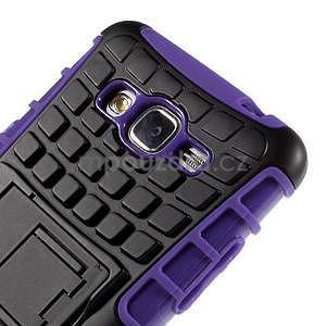 Vysoce odolný kryt se stojánkem na Samsung Galaxy Grand Prime - fialový - 7