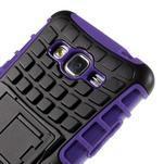 Vysoce odolný kryt se stojánkem na Samsung Galaxy Grand Prime - fialový - 7/7