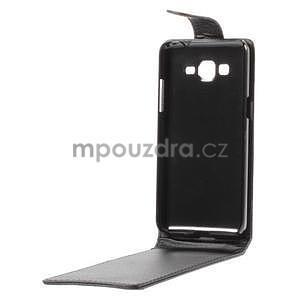 Černé flipové pouzdro na Samsung Galaxy Grand Prime - 7