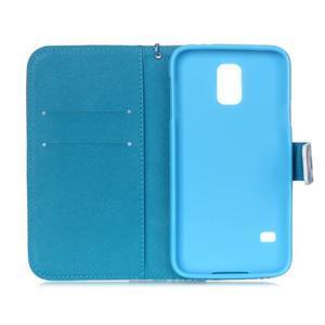 Knížkové PU kožené pouzdro na Samsung Galaxy S5 - sněžný muž - 7