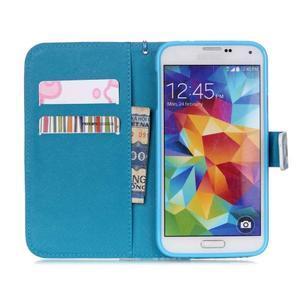 Knížkové PU kožené pouzdro na Samsung Galaxy S5 - láska - 7