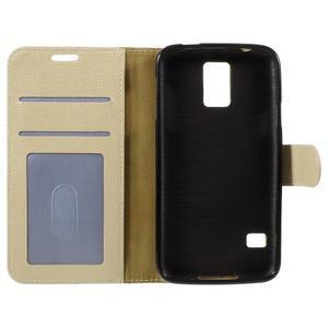 Clothy Pu kožené pouzdro na Samsung Galaxy S5 - champagne - 7