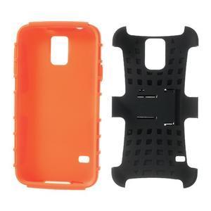 Outdoor odolný kryt na mobil Samsung Galaxy S5 - oranžový - 7