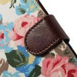Květinové pouzdro na mobil Samsung Galaxy S5 - bílé pozadí - 7/7