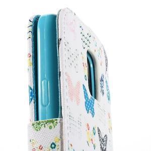 Emotive PU kožené pouzdro na Samsung Galaxy S5 mini - motýlci - 7