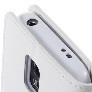 Sonata PU kožené pouzdro na Samsung Galaxy S5 mini - bílé - 7