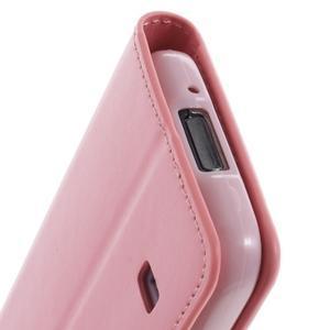 Sonata PU kožené pouzdro na Samsung Galaxy S5 mini - růžové - 7