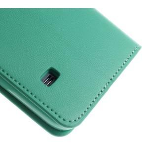 Sonata PU kožené pouzdro na Samsung Galaxy S5 mini - azurové - 7