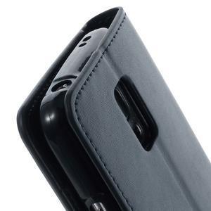 Sonata PU kožené pouzdro na Samsung Galaxy S5 mini - tmavěmodré - 7
