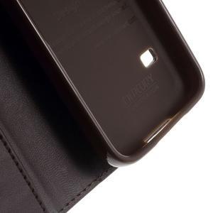 Sonata PU kožené pouzdro na Samsung Galaxy S5 mini - hnědé - 7
