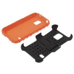 Outdoor odolný obal na mobil Samsung Galaxy S5 mini - oranžový - 7