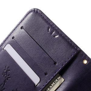 Butterfly PU kožené pouzdro na mobil Samsung Galaxy S6 Edge - fialové - 7