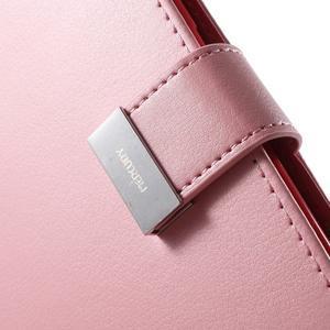 Richdiary PU kožené pouzdro na mobil Samsung Galaxy S6 Edge - růžové - 7