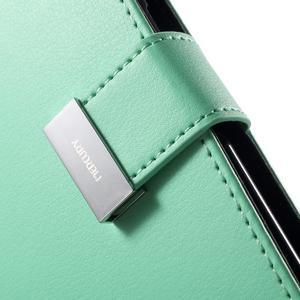 Richdiary PU kožené pouzdro na mobil Samsung Galaxy S6 Edge - azurové - 7
