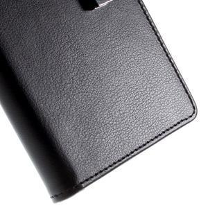 Richdiary PU kožené pouzdro na mobil Samsung Galaxy S6 Edge - černé - 7