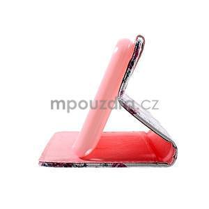 Peněženkové pouzdro na Sony Xperia E4g - květinová koláž - 7