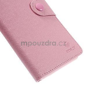 Růžové peněženkové pouzdro na Sony Xperia Z3 - 7