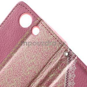 Zapinací pouzdro s mašličkou na Sony Xperia Z3 Compact - růžové - 7