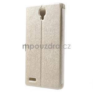 PU kožené pouzdro na Xiaomi Hongmi Note - champagne - 7