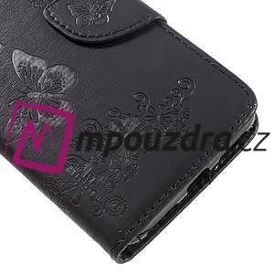 Butterfly PU kožené pouzdro na mobil Huawei Y5 II - černé - 7