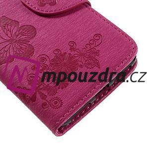 Butterfly PU kožené pouzdro na mobil Huawei Y5 II - rose - 7