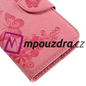 Butterfly PU kožené pouzdro na mobil Huawei Y5 II - růžové - 7