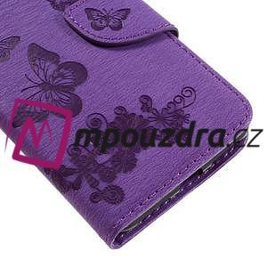 Butterfly PU kožené pouzdro na mobil Huawei Y5 II - fialové - 7