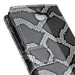 Pouzdro s hadím motivem na mobil Huawei Y5 II - stříbrné - 7/7