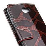 Pouzdro s hadím motivem na mobil Huawei Y5 II - červené - 7/7