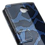 Pouzdro s hadím motivem na mobil Huawei Y5 II - modré - 7/7