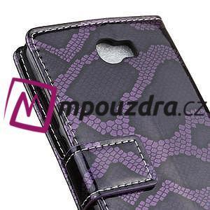 Pouzdro s hadím motivem na mobil Huawei Y5 II - fialové - 7