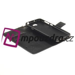 Dandelion PU kožené pouzdro na Huawei Y5 II - černé - 7