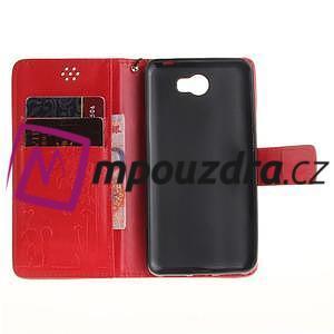 Dandelion PU kožené pouzdro na Huawei Y5 II - červené - 7